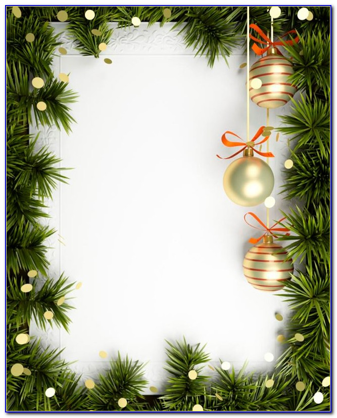 Blank Holiday Invitation Template
