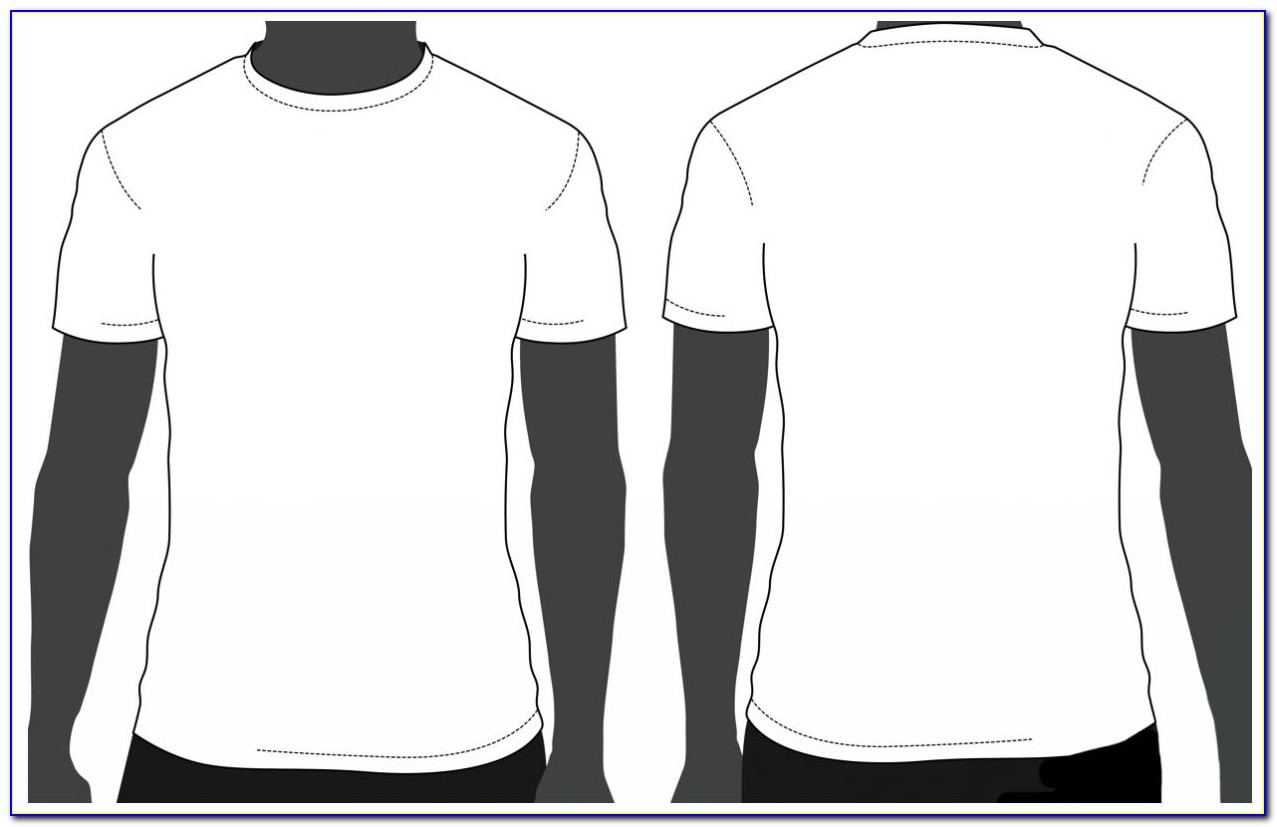 Blank T Shirt Design Template Free Download