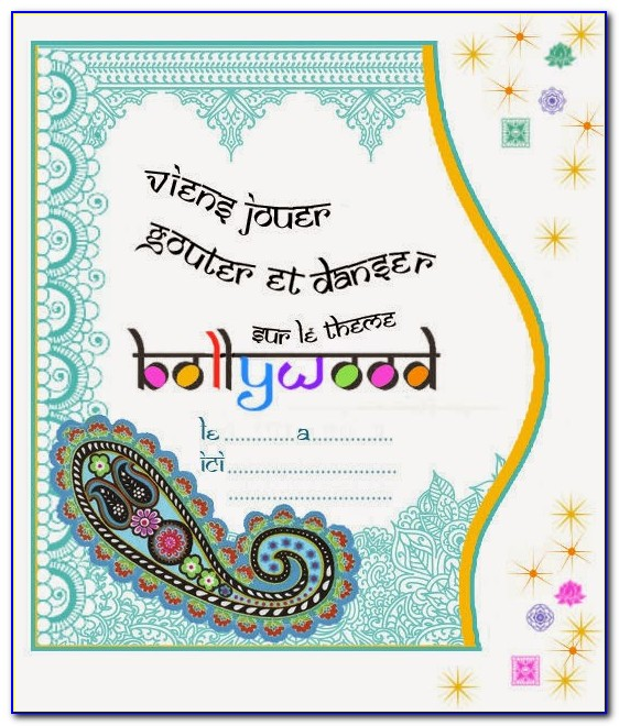 Bollywood Party Invitations Templates Free