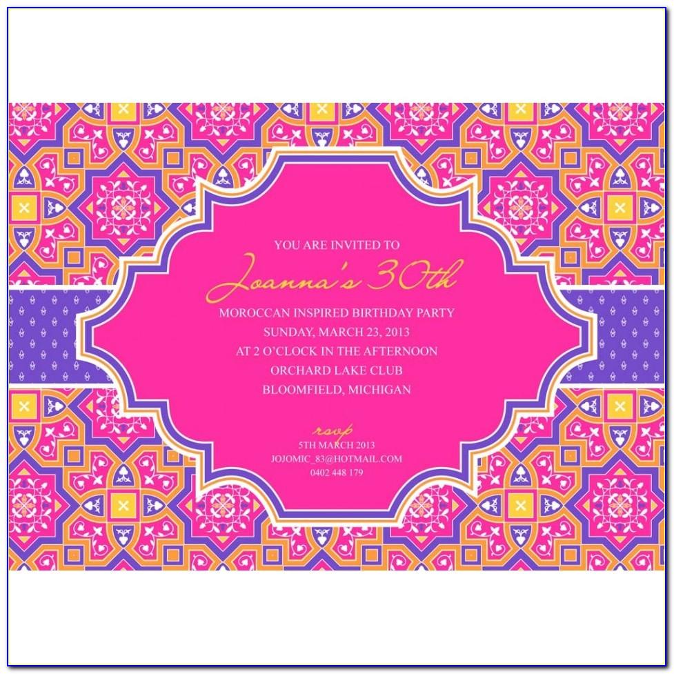 Bollywood Party Invitations Templates