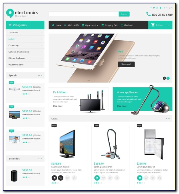 Bootstrap Ecommerce Website Templates Free Download