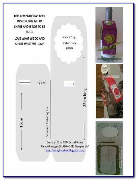 Bottle Neck Label Template Free
