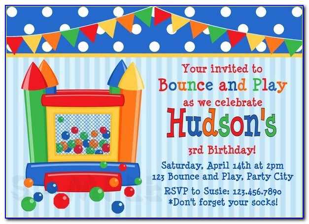 Bounce House Party Invitation Template