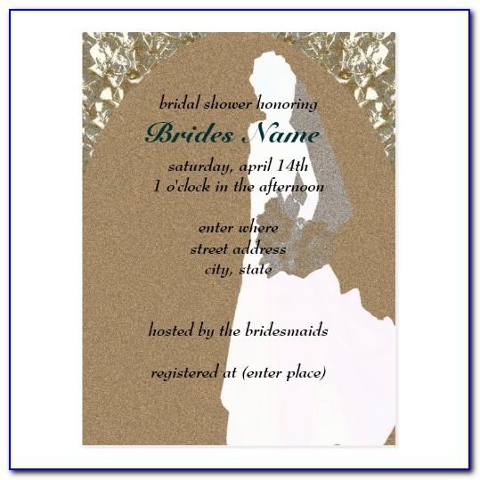 Bridal Shower Postcard Invitation Template