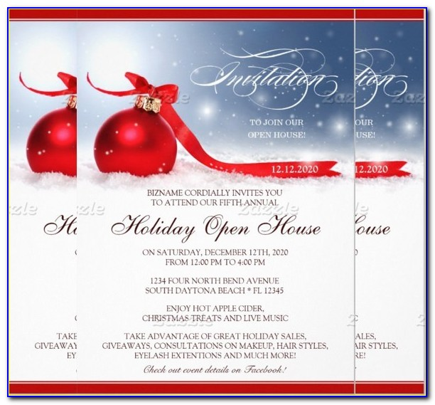 Business Open House Invitation Template Free