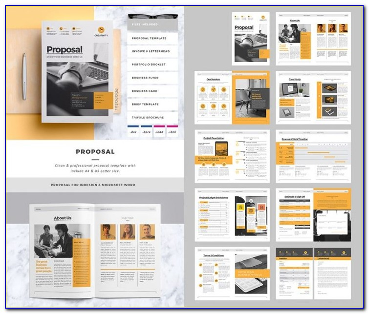 Business Proposal Templates Indesign