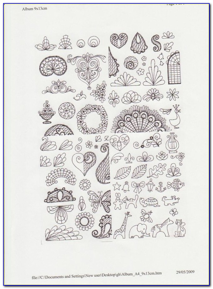 Cake Decorating Piping Practice Templates