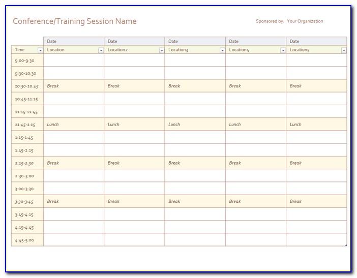 Calendar Planner Template 2018 Excel