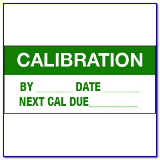 Calibration Tags Templates