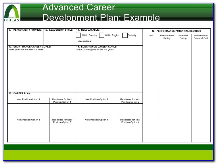Career Development Succession Planning Template