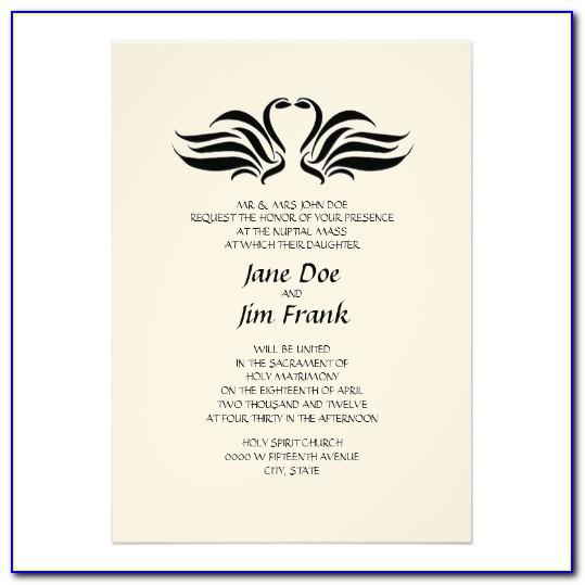Catholic Wedding Invitation Templates