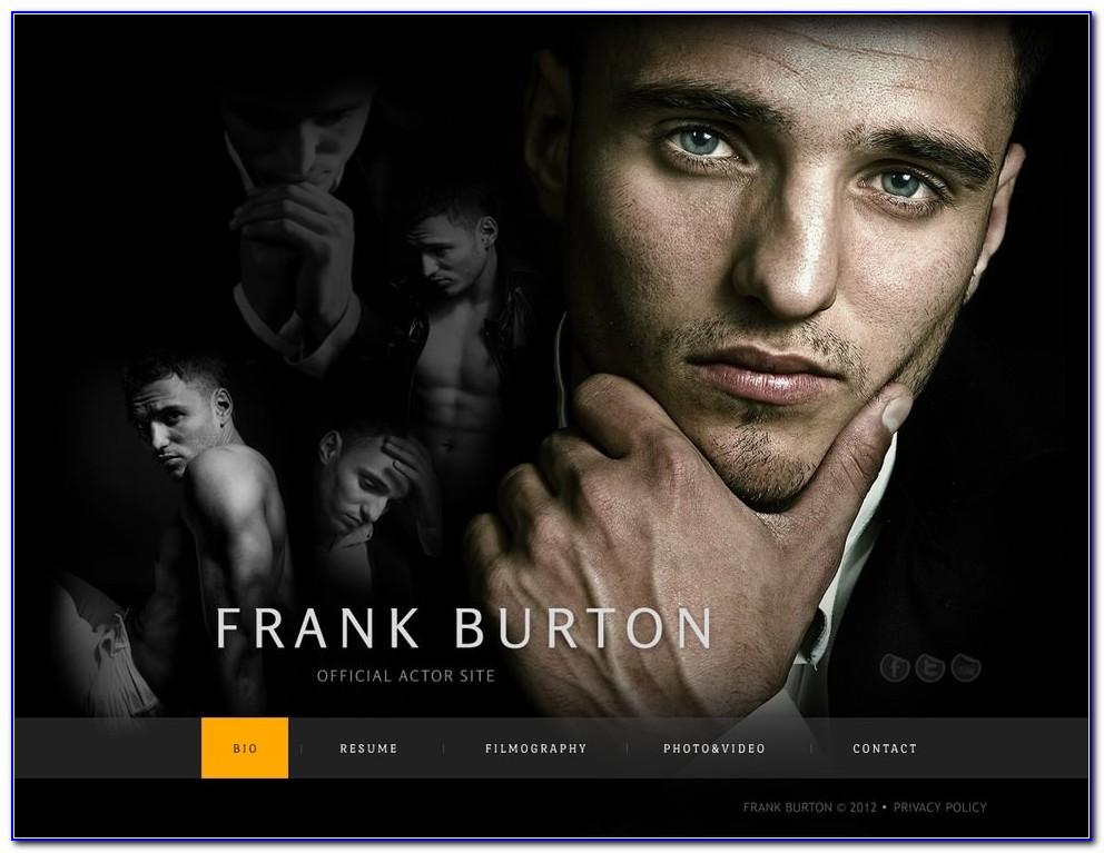 Celebrity Website Templates Free Download