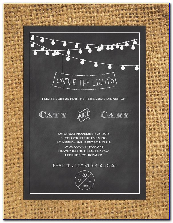 Chalkboard Wedding Invitation Template Free