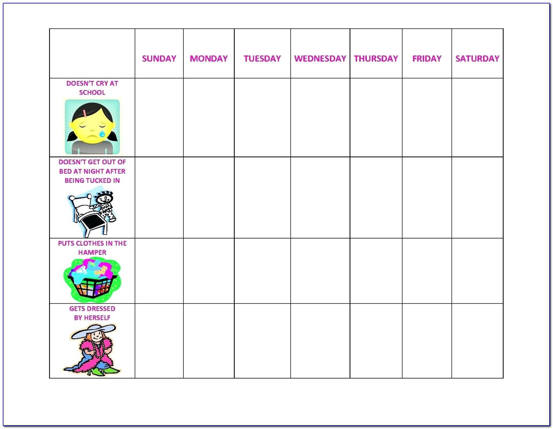 Children's Behavior Chart Template