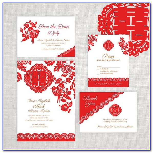 Chinese Wedding Invitation Card Wording Template