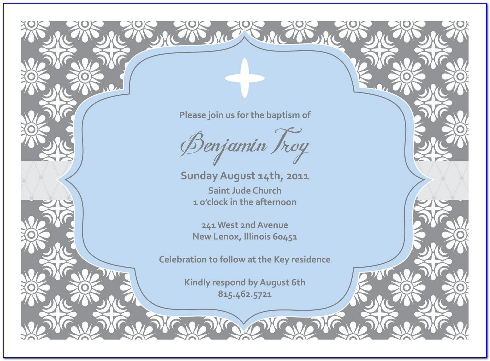 Christening Invitation Template Psd Free