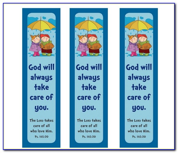 Christian Bookmark Template
