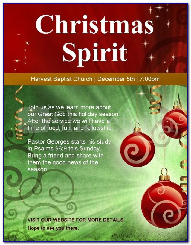 Christian Christmas Flyer Template Free