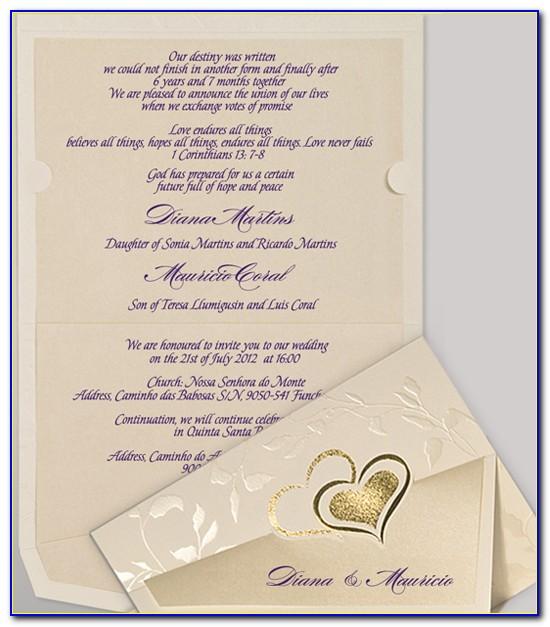 Christian Wedding Card Photoshop Template