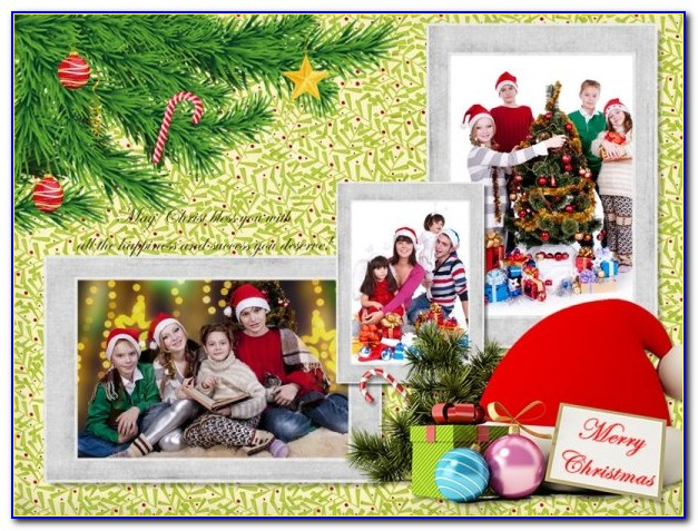 Christmas Card Picture Collage Template
