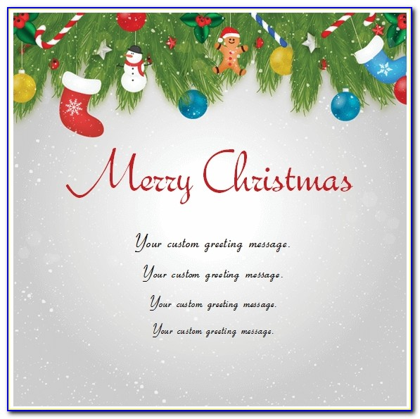 Christmas Card Templates Microsoft Word