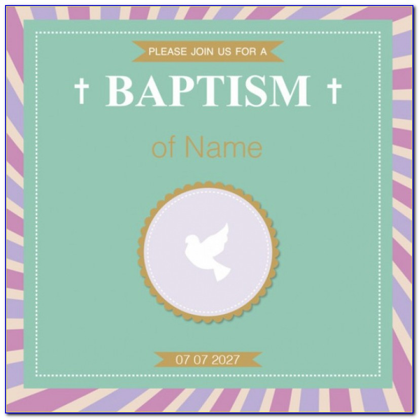 Baptism Invitation Template Vector | Free Download