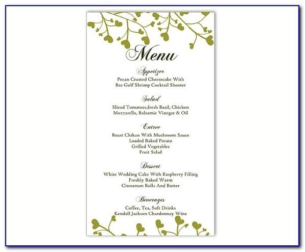 Wedding Menu Template Diy Menu Card Template Editable Text Word Inside Menu Template Free Word