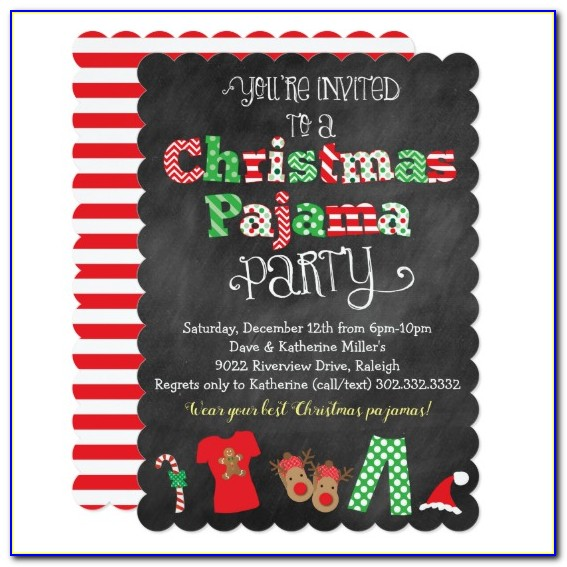 Christmas Pajama Party Invitations Free Printable