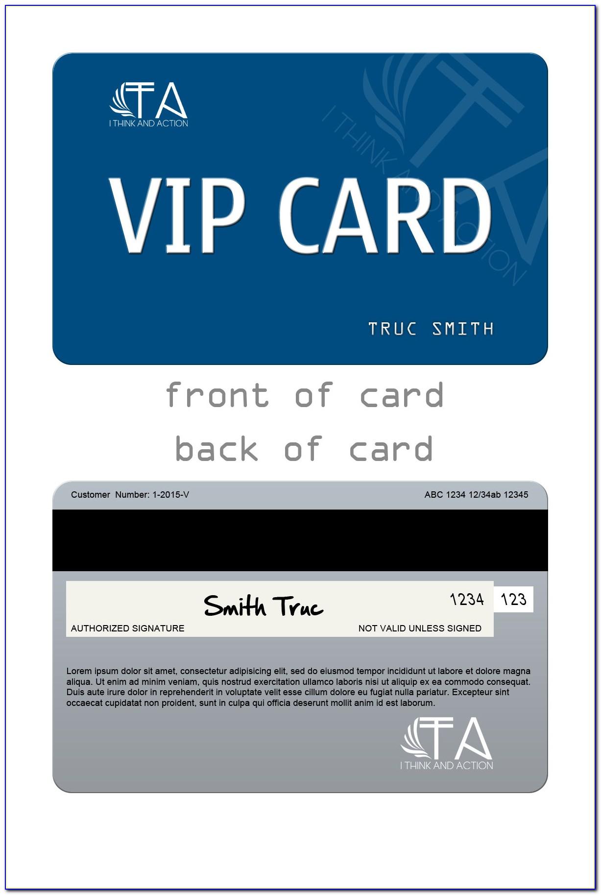 Club Member Card Template