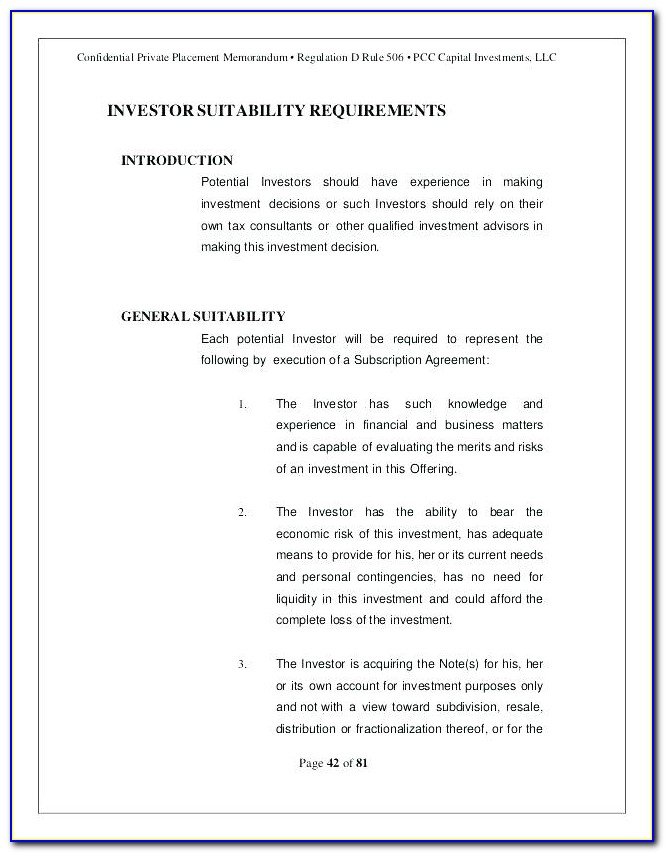 Commercial Real Estate Offering Memorandum Template