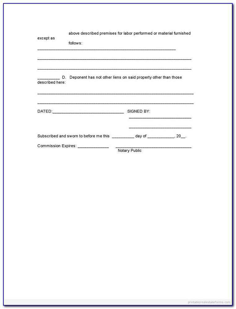 Common Law Affidavit Template