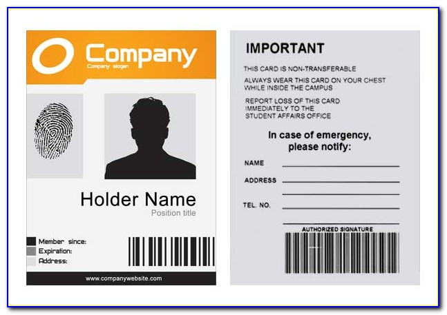 Company Id Badge Template