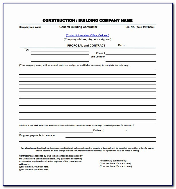 Microsoft Office Proposal Template Or Construction Proposal Template Free Download Templates