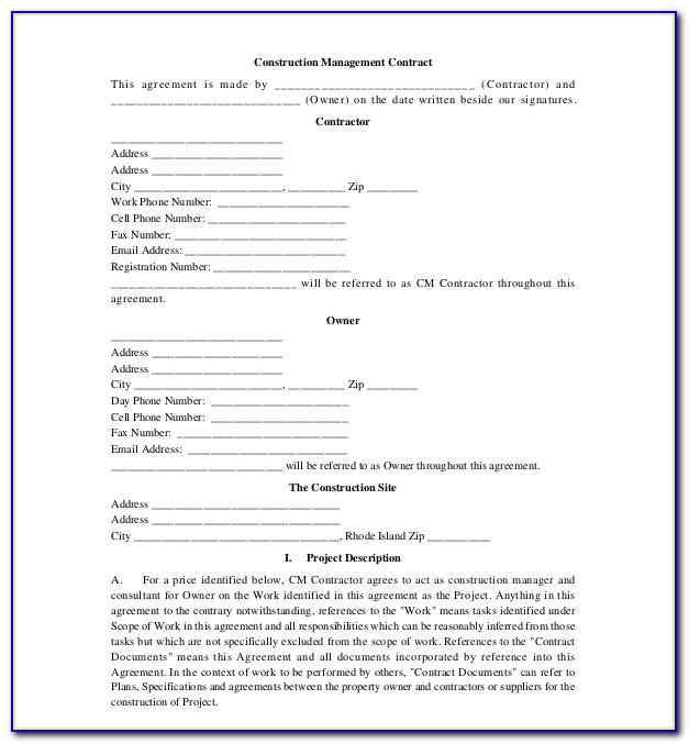 Construction Project Management Forms Templates (2)