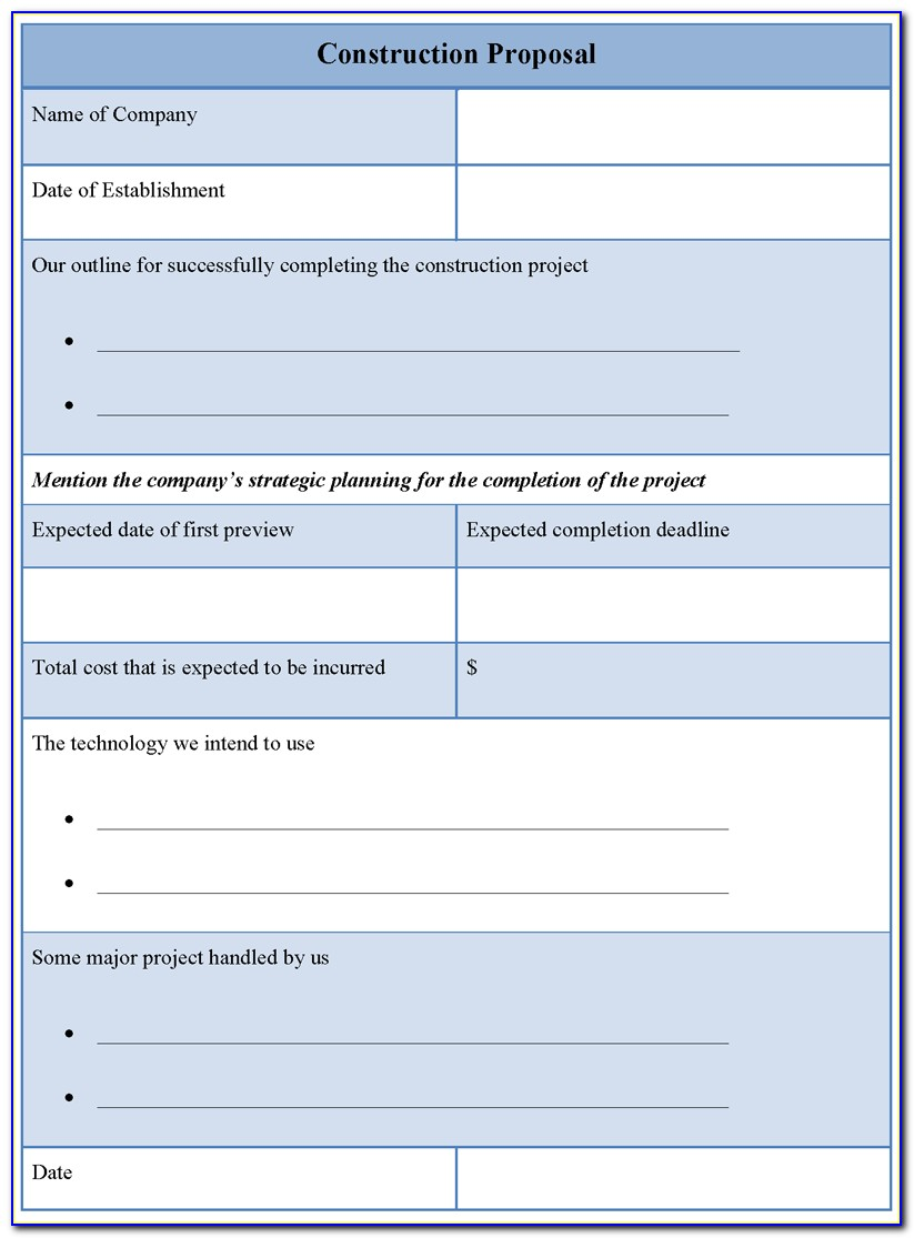 Contract Bid Letter Template