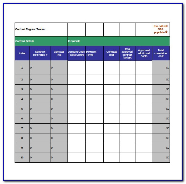 Contract Deliverables Tracking Template