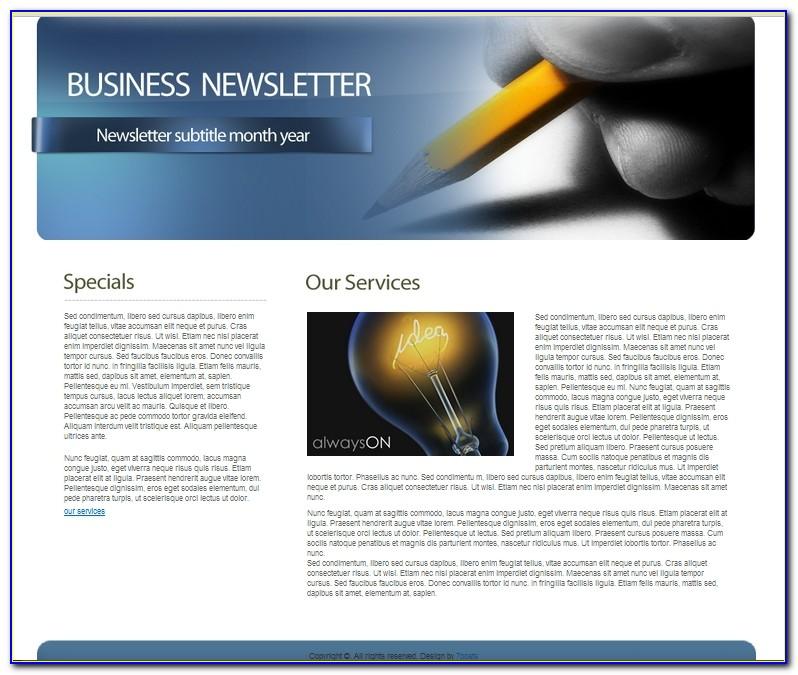 Corporate Newsletter Template Design