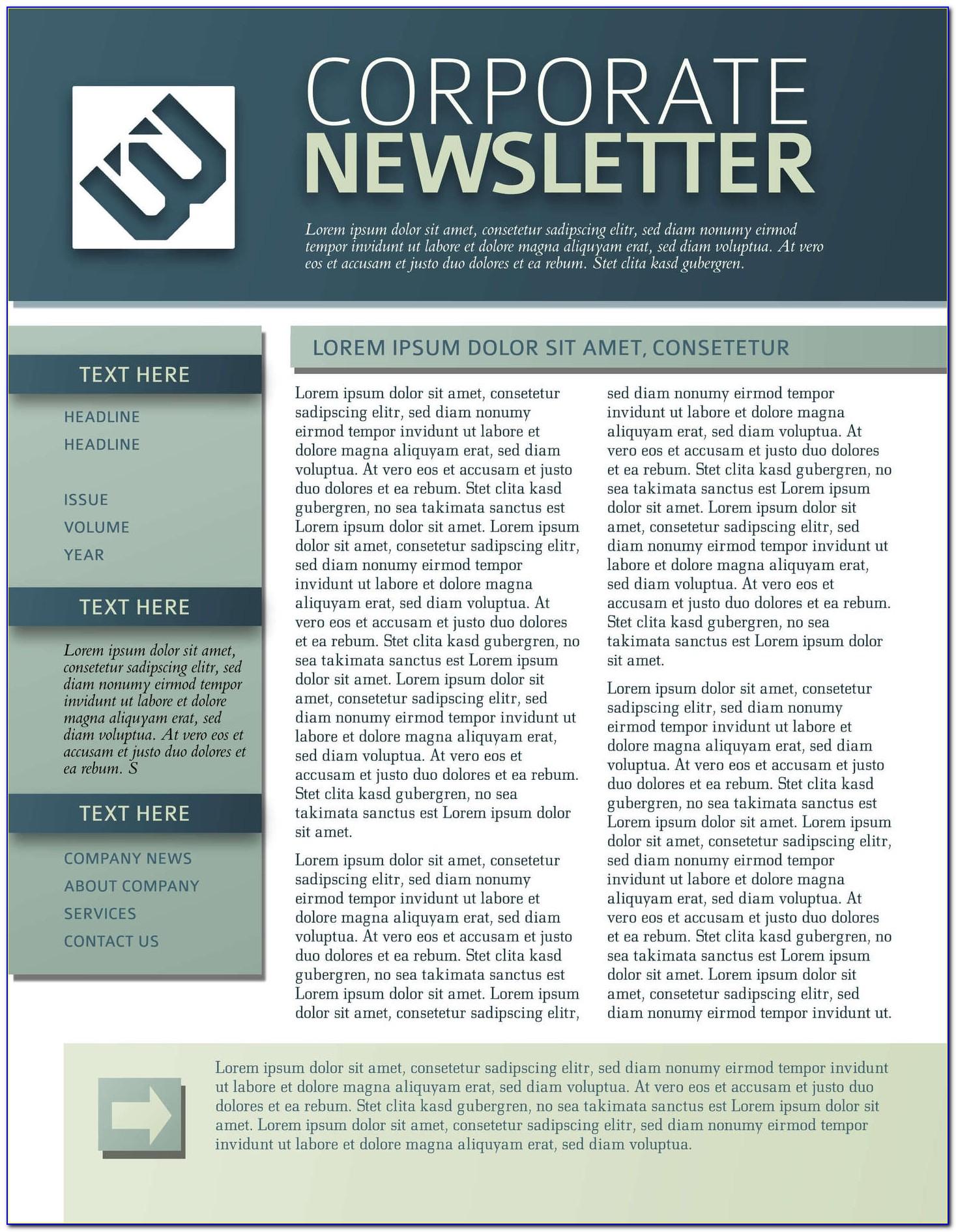 Corporate Newsletter Templates Pdf
