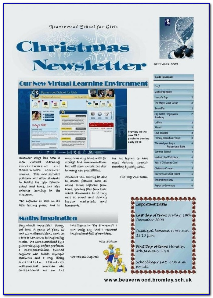 Creative Christmas Newsletter Templates