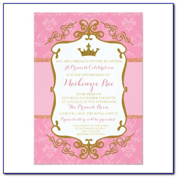 Crown Birthday Invitation Template
