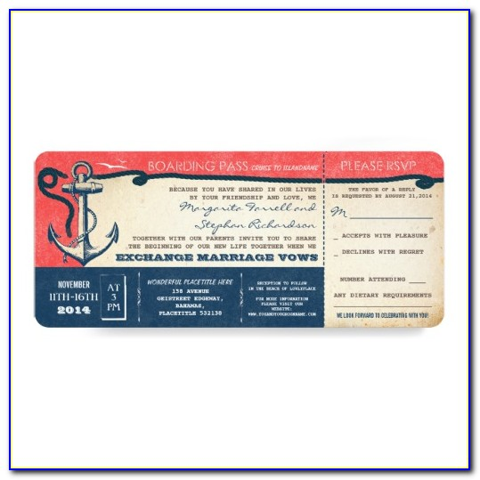 Cruise Ticket Template Word