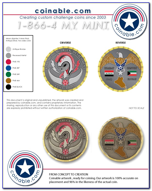 Custom Challenge Coin Template