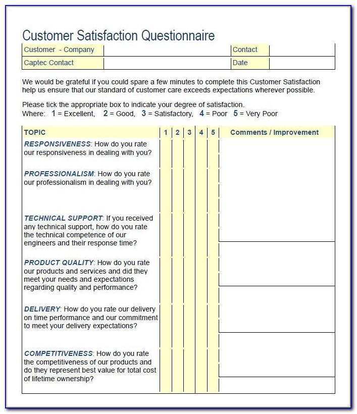 Customer Survey Templates Free
