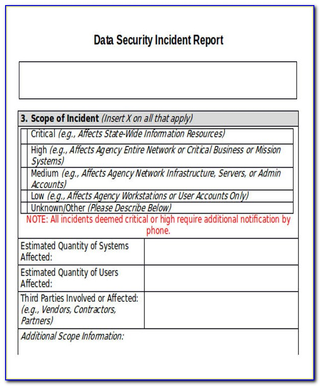 Cyber Security Incident Report Template Pdf