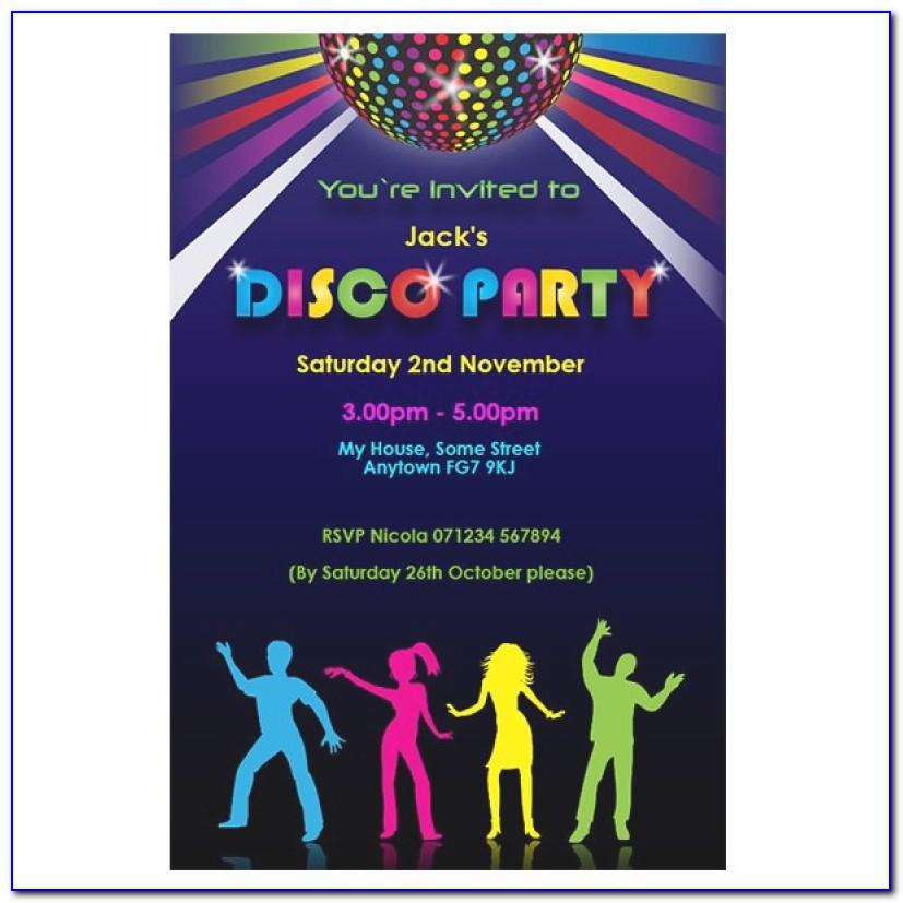 Free Party Invitation Templates Disco Party Invitatioin Designs