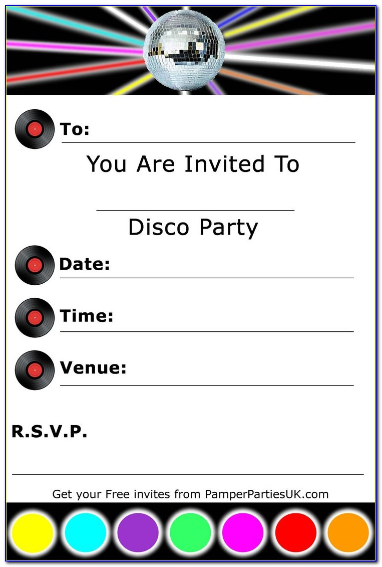 Dance Party Invitation Templates Free