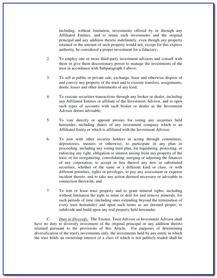 Deed Of Trust Template Free