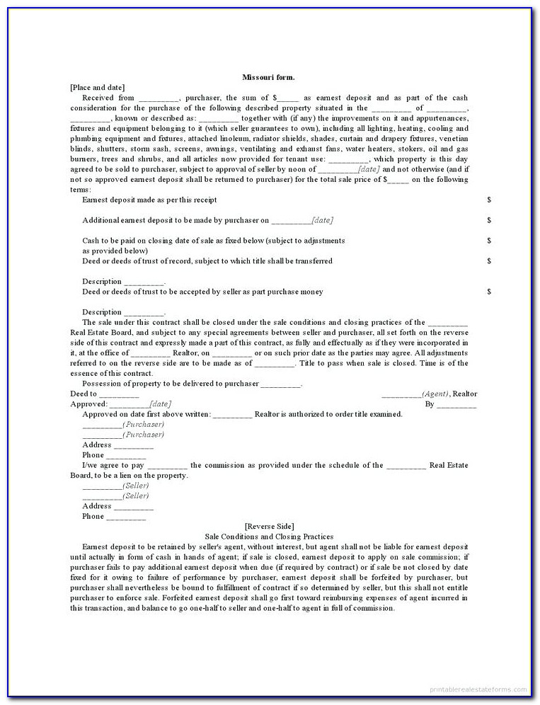 Deed Of Trust Template South Africa