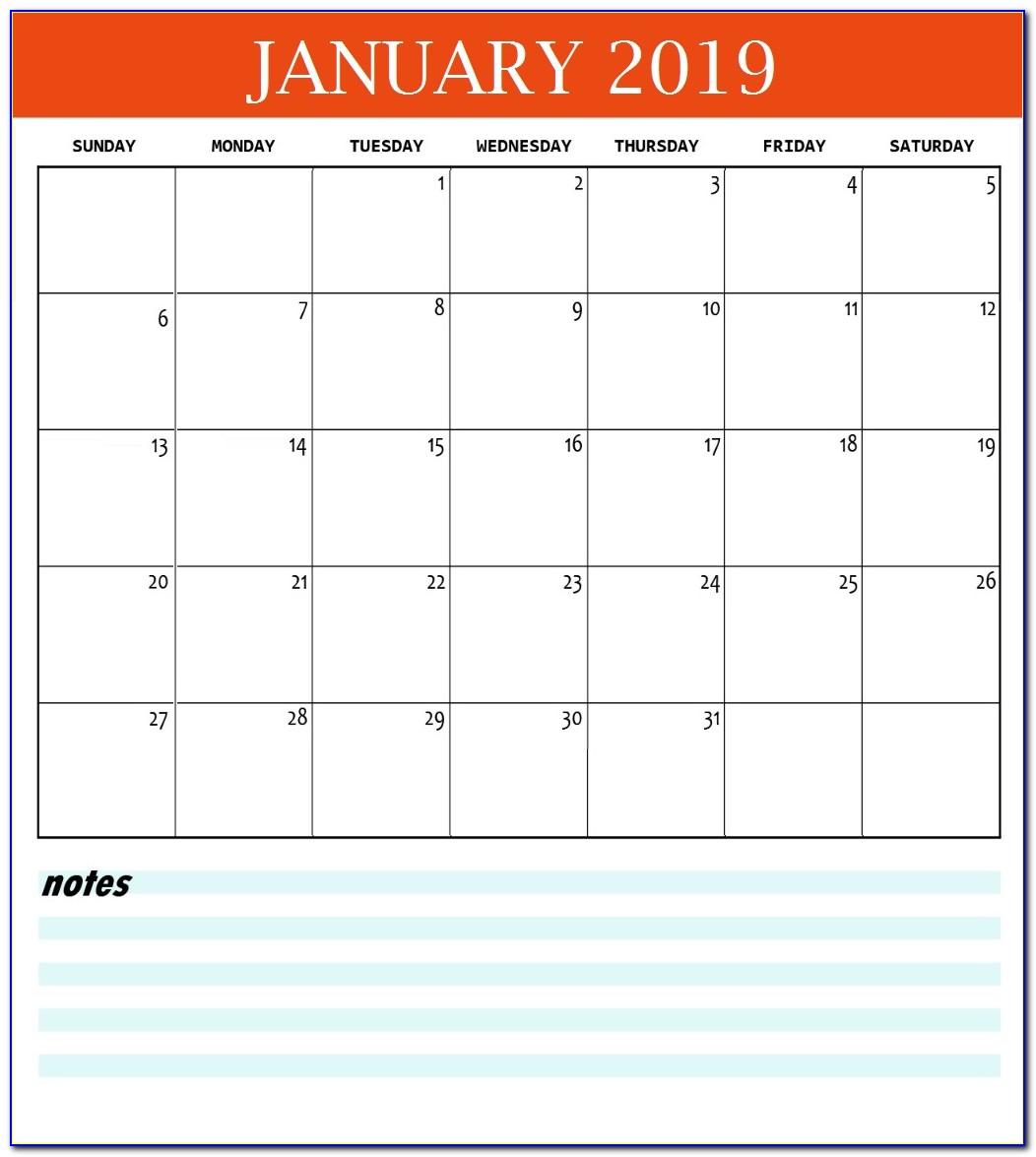 Desk Calendar Template 2018 Free