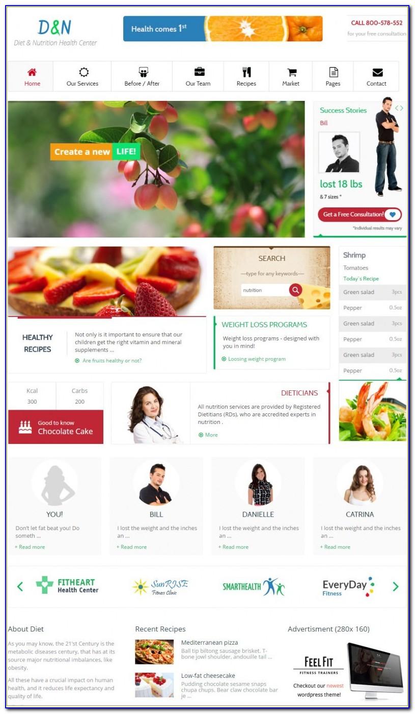 Dietitian Website Free Templates